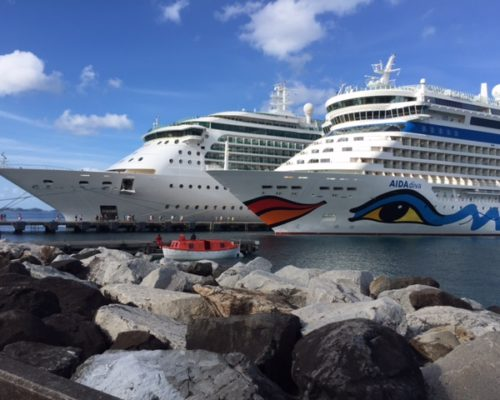Royal Caribbean Jewel of the Seas and Aida