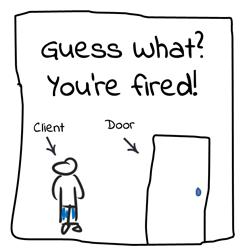 Firing a client