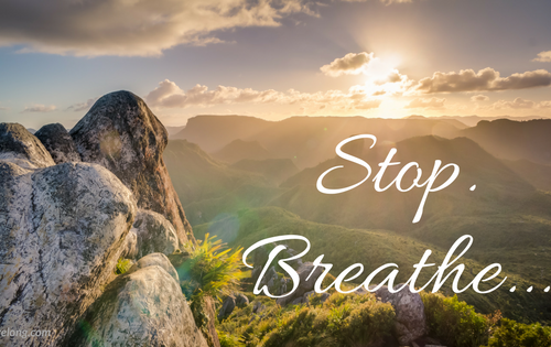 Do you know your Value? Stop and Breathe